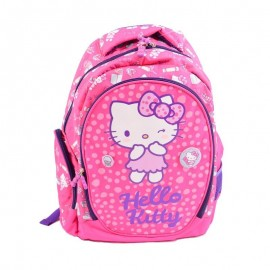 Ghiozdan Pink Kitty, clasele primare, forma ergonomica, inaltime 44 cm