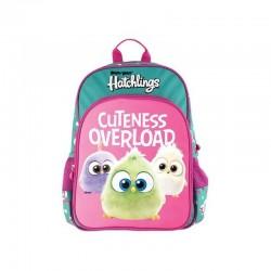 Ghiozdan fetite Angry Birds, clasa 0, 1 compartiment, multicolor, Pigna