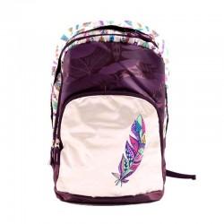 Ghiozdan Boho Tribal, fete, clasele 5-8, 2 compartimente, violet, Pigna