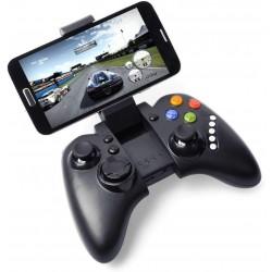Controler gamepad Bluetooth, Android, iOS, 16 butoane, stand telefon, Ipega