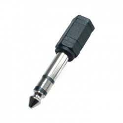 Adaptor audio Jack, mufa stereo 6.3 mm