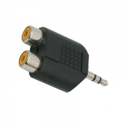 Adaptor audio stereo Jack 3.5 mm, 2 prize RCA