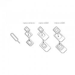 Adaptor universal pentru cartela nanoSIM/microSIM, cheita inclusa, Forever