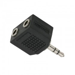 Adaptor audio, mufa stereo Jack 3.5 mm, 2 prize stereo Jack 3.5 mm