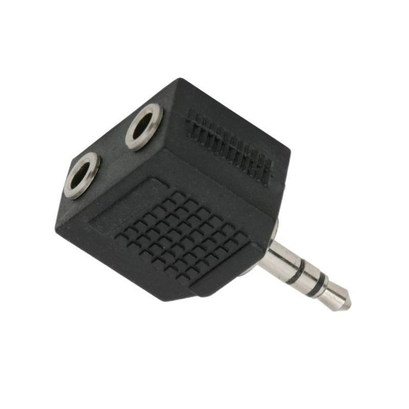 Adaptor audio, mufa stereo Jack 3.5 mm, 2 prize stereo Jack 3.5 mm