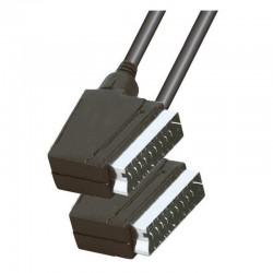 Cablu video, mufa SCART 21 poli, stereo, 2 conectori, negru, Home