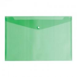 Mapa plic translucida, format A2, inchidere cu capsa, verde