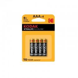 Set 4 baterii R3 AAA Kodak, alcaline, 1.5V
