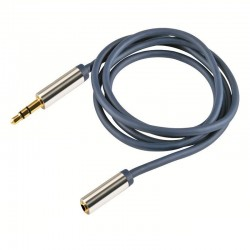 Cablu audio stereo, 2 mufe Jack 3.5 mm, contacte metalice aurite, 2.5 m