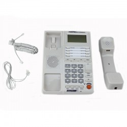 Telefon fix afisaj LCD 12 digiti, FSK/DTMF, memorie 500 numere, calculator