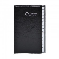 Agenda telefonica cu index alfabetic, 105x148 mm, inchidere tip carte