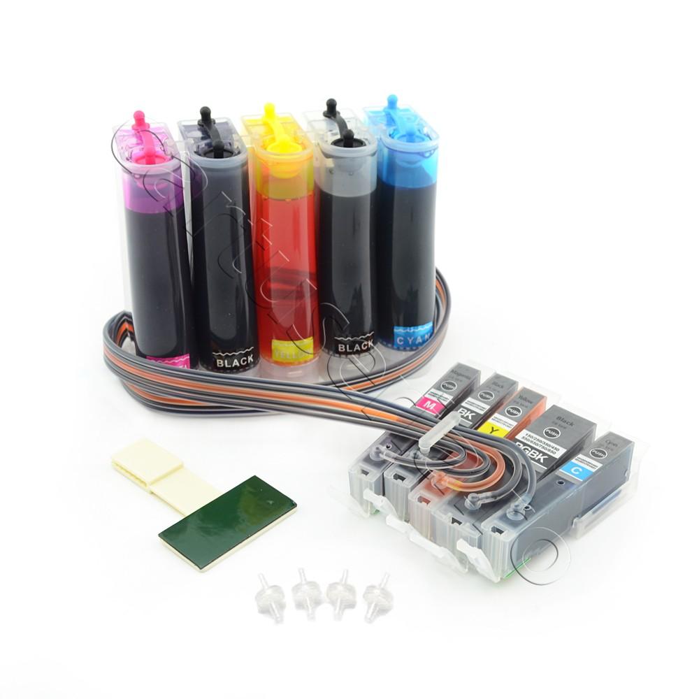 Sistem Ciss Pentru Canon Pgi-550 Cli-551 Cerneala: Cu Cerneala Dye