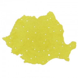 Sablon harta Romaniei, plastic, Nebo