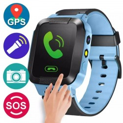 Smartwatch traker copii, Android/IOS. GPS sim, 1.54 inch, camera, bratara silicon