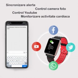 Smartwatch bluetooth, 1.3 inch, procesor Nordic nRF52832, incarcare magnetica