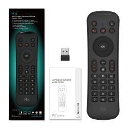 Minitastatura Wireless 3 in 1, conectare automata, compatibila Smart TV, PC