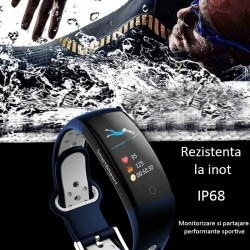 Bratara smart fitness Bluetooth, Android iOS, 14 functii, LCD 0.96 inch, IP68, SoVogue