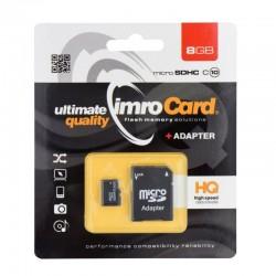 Card Imro microSDHC clasa 6 8GB cu adaptor SD
