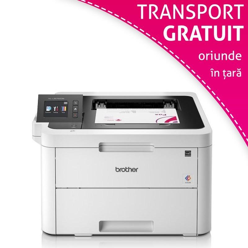 Imprimanta laser color Brother HL-L3270CDW, Wi-Fi, USB, A4, display TFT