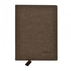 Agenda nedatata A4, 100 pagini, semn de carte inclus, coperta buretata