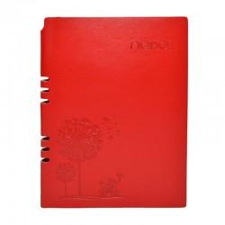 Agenda A5, 100 pagini, calendar, coperta piele ecologica, margini aurii