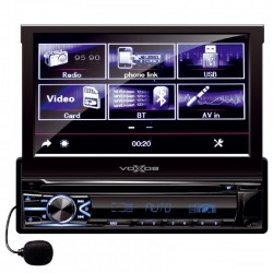 Radio FM auto, multimedia player, ecran LCD 7 inch, slot USB, telecomanda