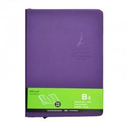 Agenda B5, 100 pagini, semn de carte inclus, coperta buretata, mov