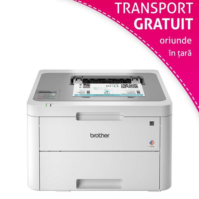 Imprimanta laser color Brother HL-L3210CW, A4, 256MB, USB 2.0, Wireless