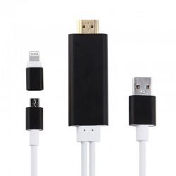 Cablu adaptor HDMI, rezolutie pana la 1080P, filme HD
