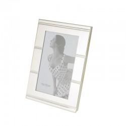 Rama foto format 10X15, metal, cu insertie striata, Resigilata