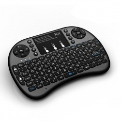 Mini tastatura bluetooth Rii i8+, qwerty si touchpad, PS4, iluminata