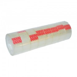 Banda adeziva transparenta, dimensiuni 18mm x 13m, set 8 bucati