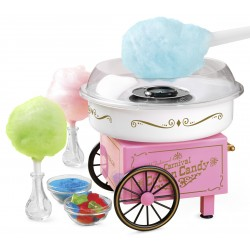 Masina pentru vata de zahar, 450W, 31x30x30x12, alb-roz