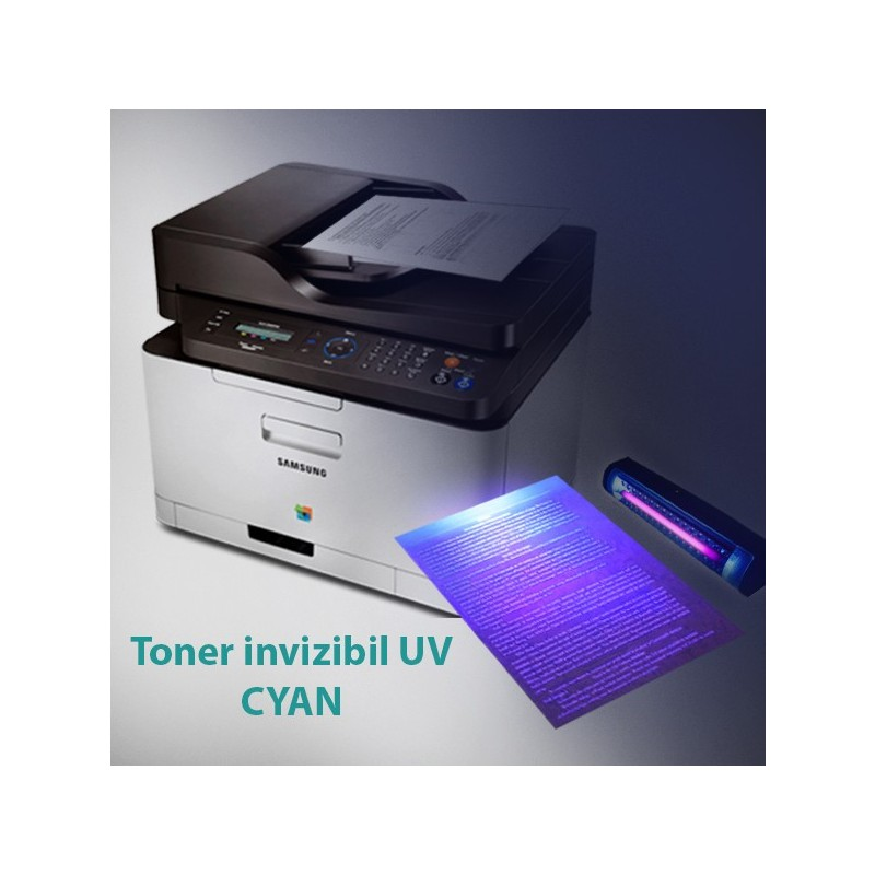 Toner invizibil UV pentru Samsung si Lexmark monocrom, Cyan, praf 50 g