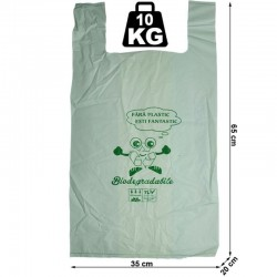 Pungi tip maieu biodegradabile, 35X65X20 cm, 10 kg, set 10 bucati