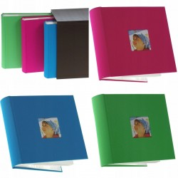 Set 3 albume foto Colors, 600 poze 10x15, slip-in, spatiu notite, cutie