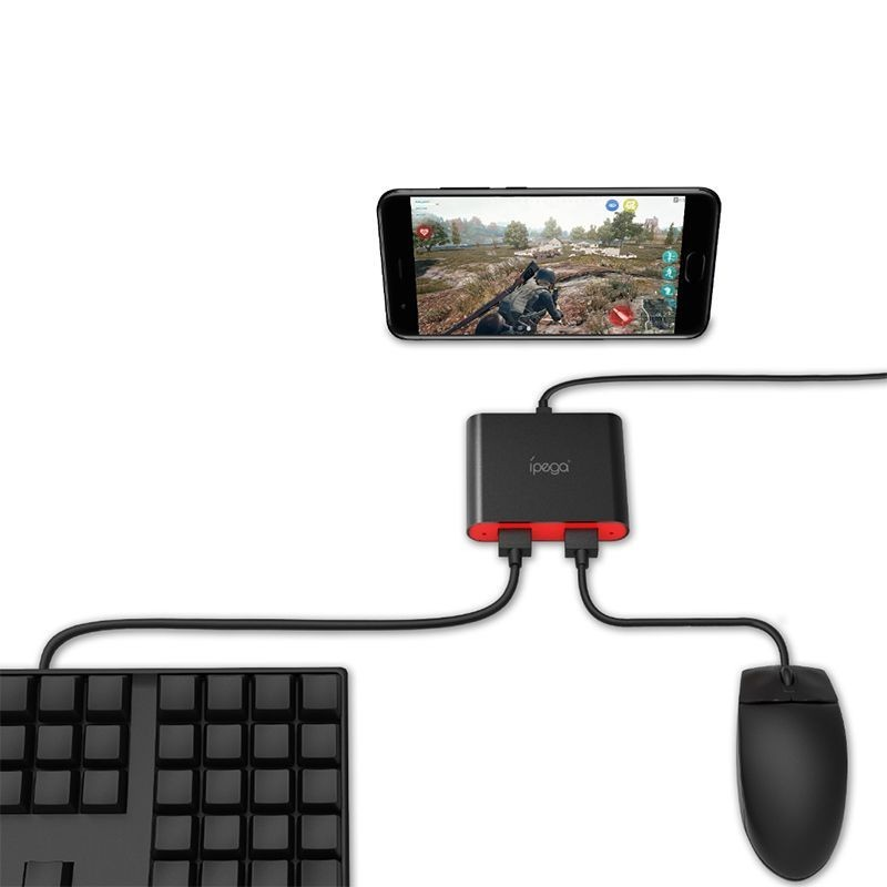Adaptor bluetooth tastatura si mouse pentru smartphone, Android, iPhone, stand silicon