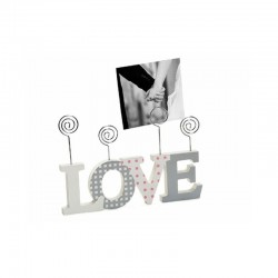 Rama foto Love Clip, 4 poze 10x10 cm, prindere clips, lemn, de birou