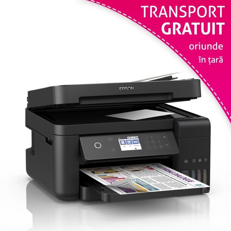 Imprimanta multifunctionala inkjet color Epson L6170, CISS, A4, Wireless
