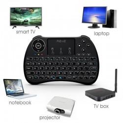 Mini tastatura iluminata, wireless cu touchpad, Reiie H9+