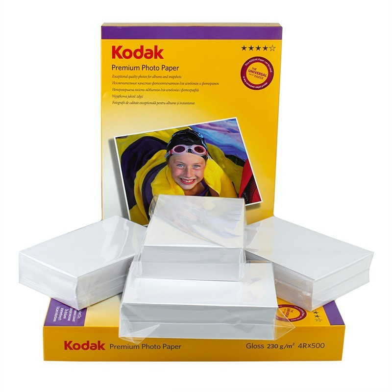 Pachet 500 coli hartie foto Kodak Premium Glossy, 10x15 cm, 230 g
