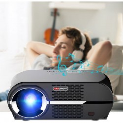 Videoproiector LED portabil, 3500 lm, telecomanda