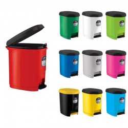 Cos de gunoi cu pedala, capacitate 20L, compartiment detasabil, culori mixte