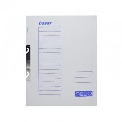 Dosar incopciat 1/1, format A4, carton alb, set 50 bucati