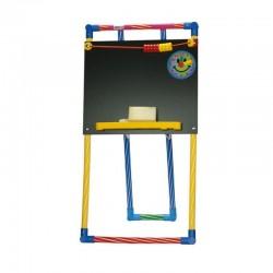 Tablita de scris cu socotitoare, 93x40 cm, creta si burete, suport color