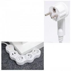 Prelungitor smart WiFi, reglabil, 3 prize, 2 x USB, protectie copii, Home