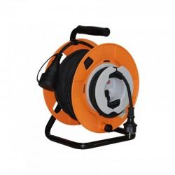 Prelungitor rola 22 m + 3 m tambur, 3000W, cablu 3x1.5 mm2, exterior IP44