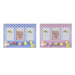 Rama foto multipla Baby Dots, 3 poze 6x8 cm, figurine, metal