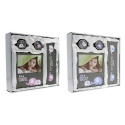 Set Baby Shower, rama foto 10x15, cutiuta suvita, dintisor, certificat