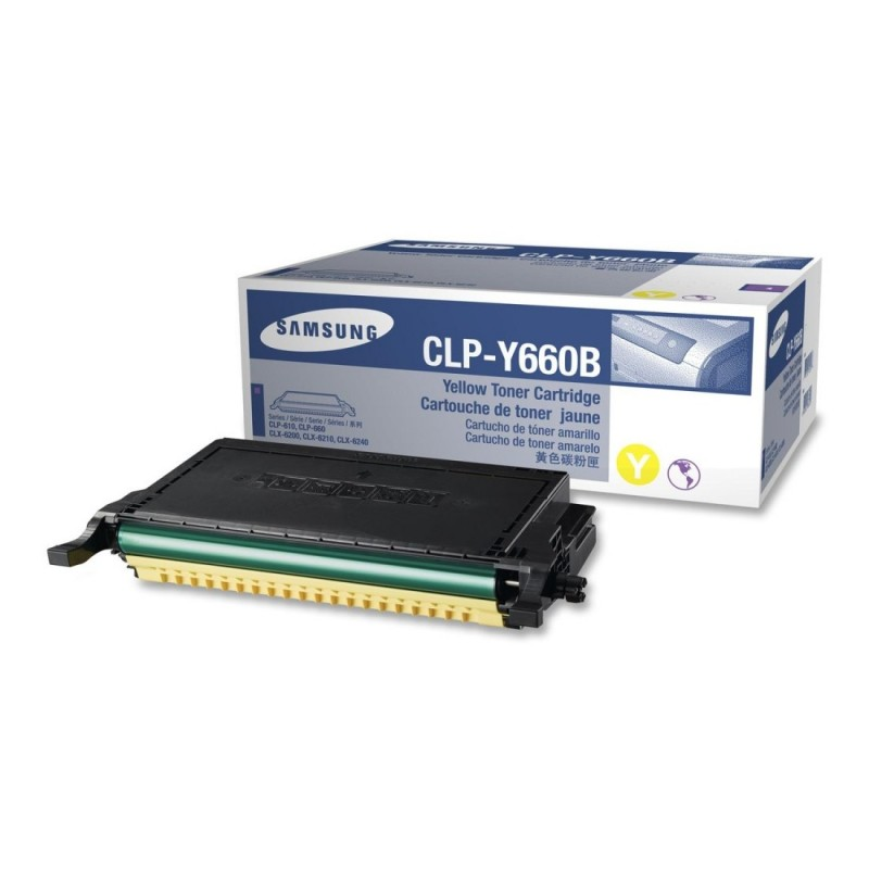 Toner CLP-Y660B yellow original Samsung CLPY660B